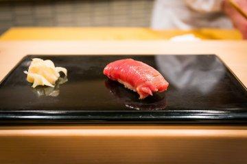 Chutoro, fatty tuna sushi