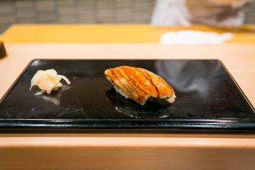Anago, sea eel sushi