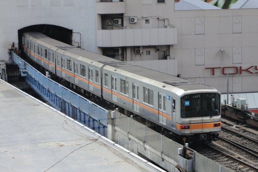 The Ginza Subway Line starting in Shibuya