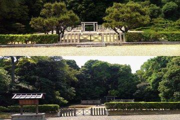 Top: Tomb of Emperor Itoku, Bottom: Tomb of Emperor Annei