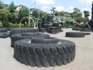 3,000 tires make this the best playground in Tokyo