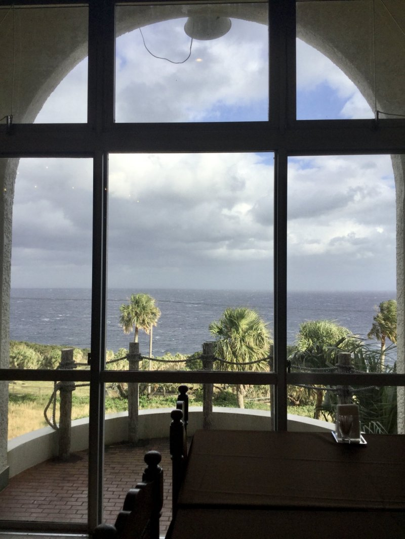 Breathtaking views from the lobby and dining hall