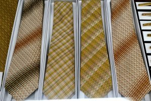 Modern neckties incorporating historical weaving techniques