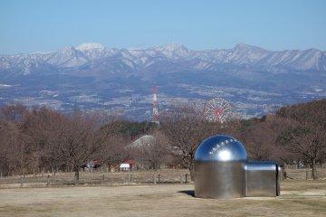 The mountainous surroundings of the museum
