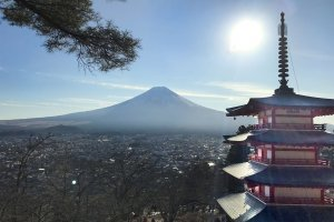 Churei Tower and Mount Fuji
