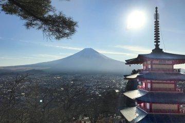 Churei Tower and Mount Fuji