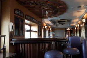 Lounge car drinks bar
