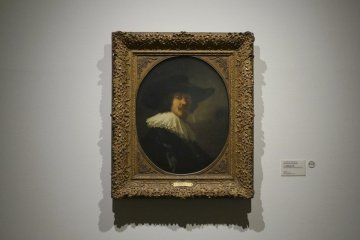 Portrait of Amsterdam citizen by Rembrandt, paired picture of wife, at the Cleveland Museum of Art