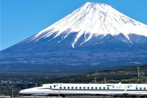 Mount Fuji may be Japan's tallest mountain, but a few blinks and you could miss Japan's iconic landmark with the ultra fast bullet train