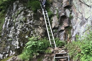 Ladders helping with the ascent