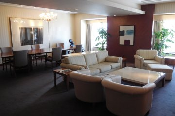 Imperial Suite room - the overall view of the dining and living rooms