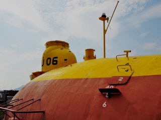 Everything around the area is devoted to nautical vessels and submersibles.