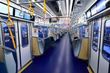 Tokyo Metro train interior