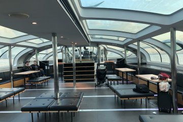 On board the Tokyo Cruise with panoramic views
