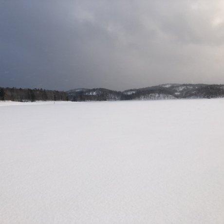 Ice Fishing on Lake Shumarinai