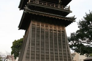 The reconstructed bell tower.