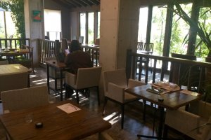 Lots of seating at Panja Cafe+