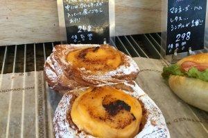 Crème brûlée pastry.
