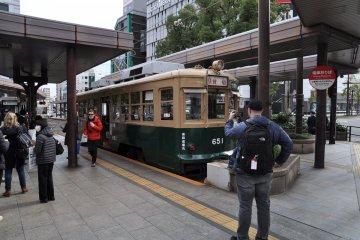 Vintage Hiroshima streetcar