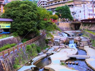The river at Arima hotspring