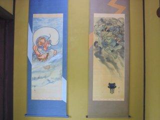 The art of Fu-jin (wind god) and Rai-jin (thunder god)