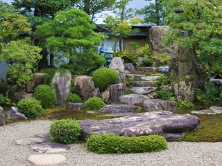 The scenery of the Japanese garden