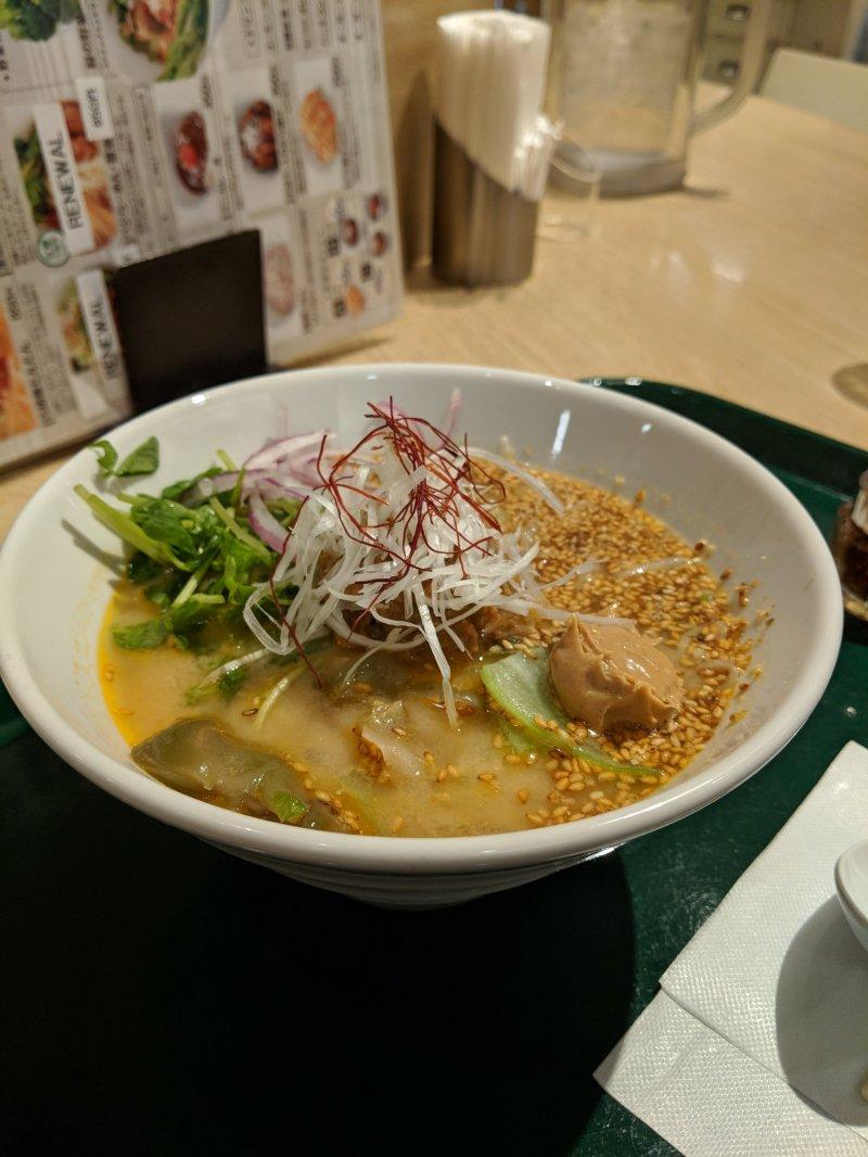 One of the vegan ramen options at T's Tantan