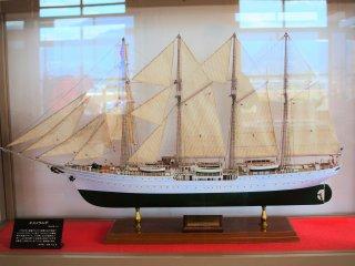 A scale-model of the ship, Esmeralda