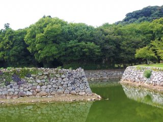 A view of the moat where Hagi Castle once stood