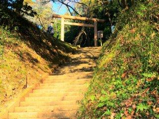 The steps toward Katori Gokoku Shrine