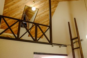 Twin loft rooms suitable for families