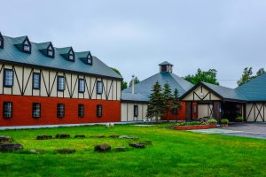 It's difficult to miss this beautiful hotel in Tsurui Village