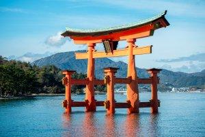 Floating torii gate, Hiroshima