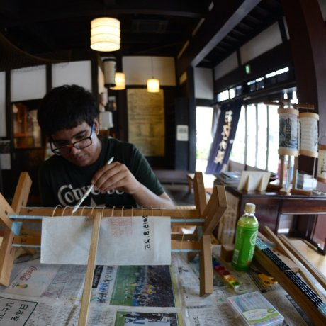 Lantern making in Odawara