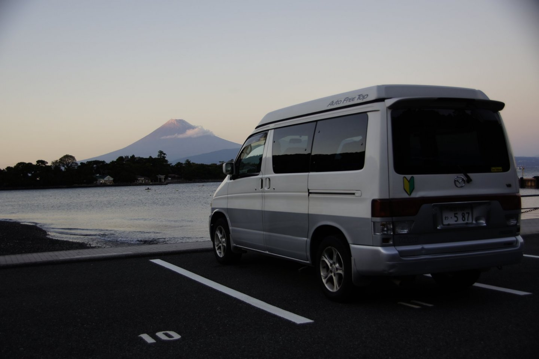 Evening mood with Mt. Fuji view, Cape Ose, Shizuoka