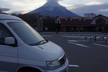 Morning Coffee, Michi no Eki with Mt. Fuji view
