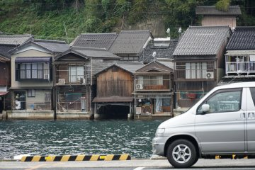 """Ine, with its famous """"boat houses"""" offers a centrally located Michi no Eki - free overnight stay with views of the town and the sea."""