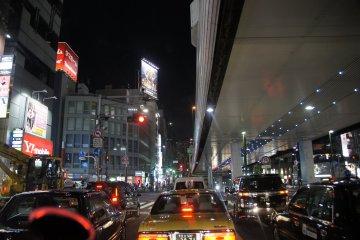 Evening rush hour in Tokyo