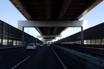 Multi level roads make the most of rare space in Japan.