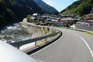 Deep into Gifu's mountainous countryside