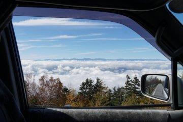 Above the clouds - Subaru route on Mt. Fuji