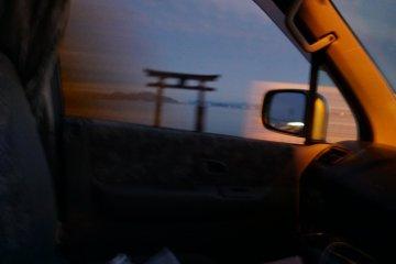 Along the shores of lake Biwa
