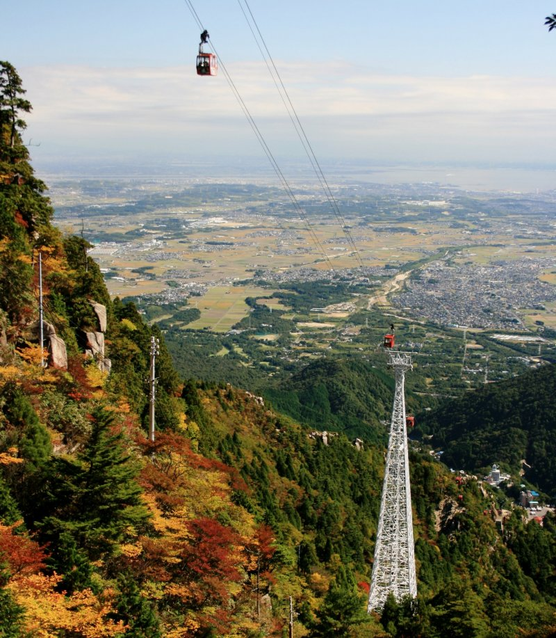 A sweeping view of Mie Prefecture from Gozaisho Ropeway