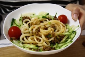 Nikumiso udon noodles