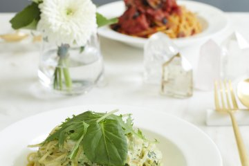 The pasta dishes on the menu are also gluten-free.