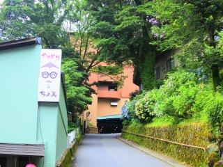 箱根湯本の道路