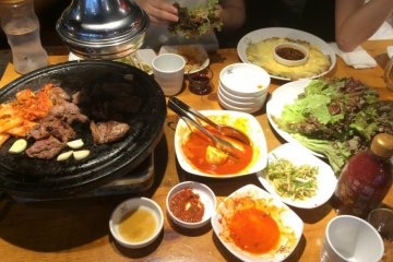 Korean Barbecue, K-Pop, and cosmetics abound in Shin-Okubo