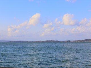 七尾湾の景色