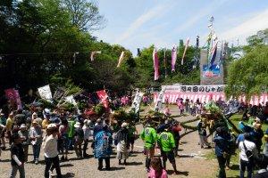 The main festival area