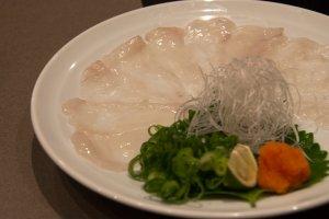 Yamaguchi fugu sashimi